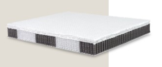 Ergonomic 7-areas mattress made of 6000 individual springs with Memory Foam